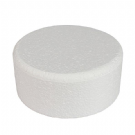 6'' Round Bevelled Cake Dummy - 3'' high